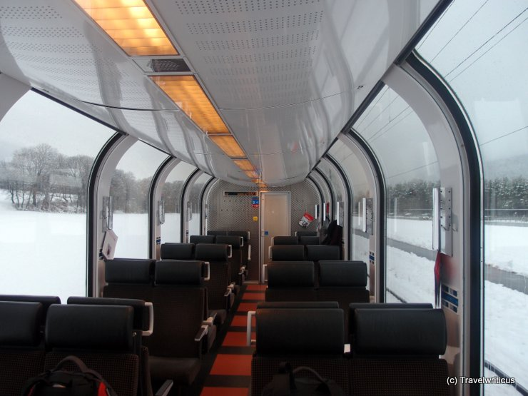 Dome car  2nd class of Albula Railway