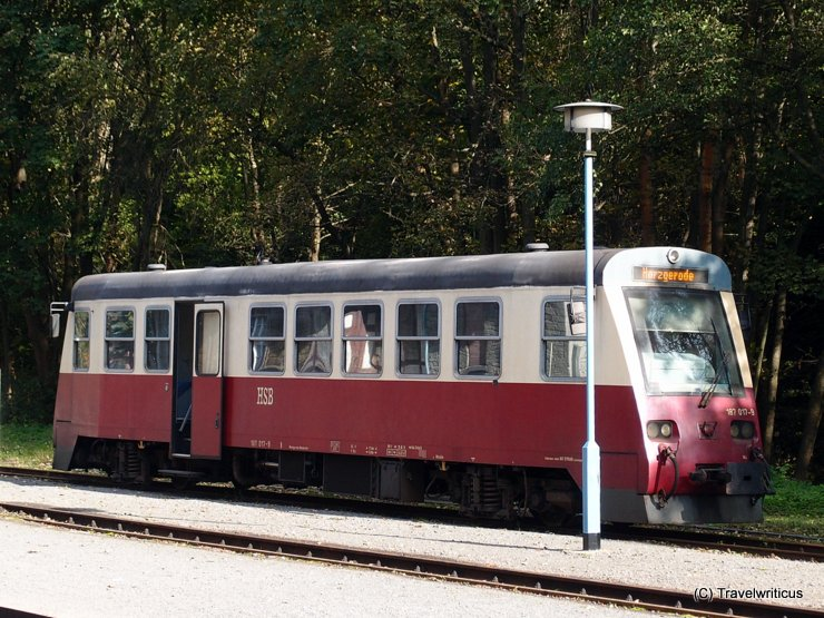 Diesel railbus HSB Class 187 in Alexisbad, Germany