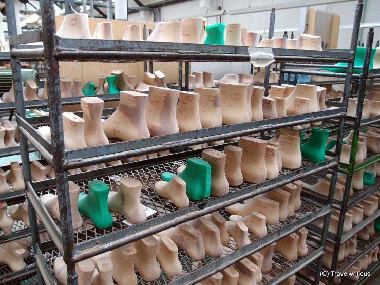 Shoe lasts made by Fagus in Alfeld. Germany