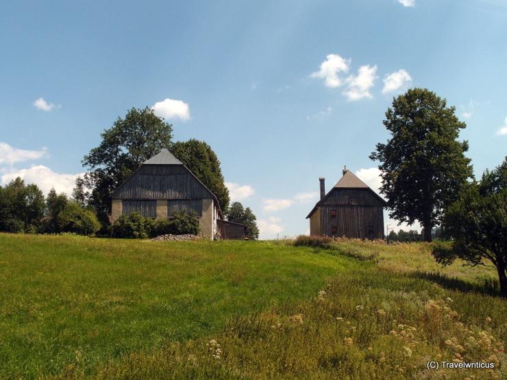 Barns along the Mariazell Railway near Annaberg, Austria