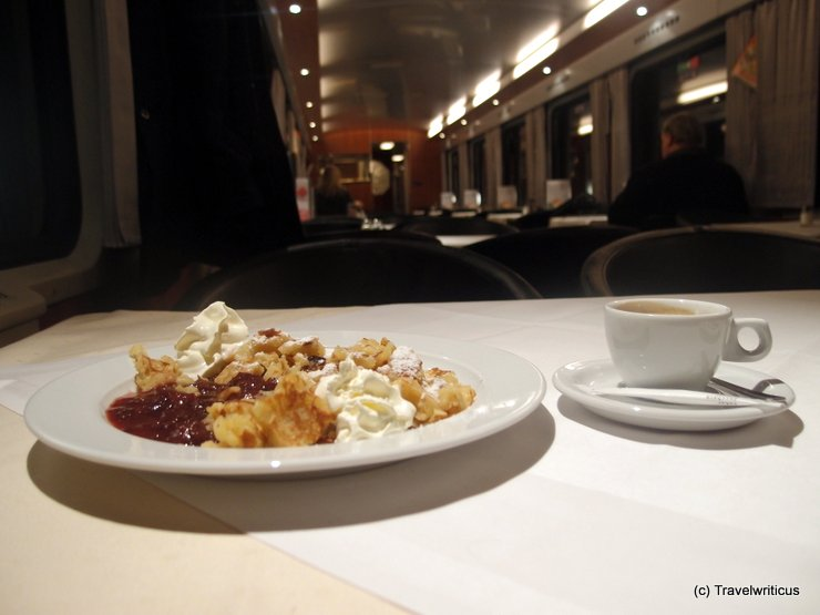 On an Austrian dining car