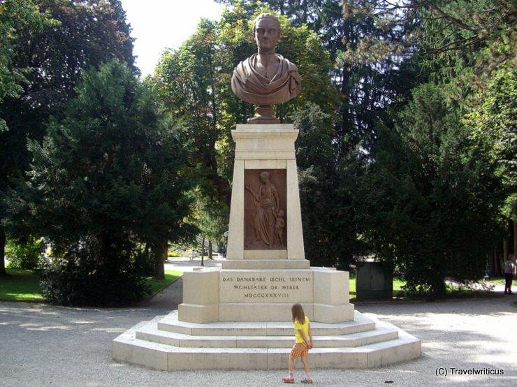 Monument to Franz Wirer in Bad Ischl, Austria