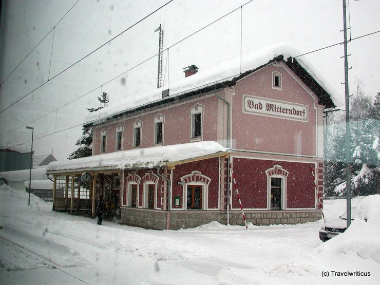 Railway station of Bad Mitterndorf, Austria