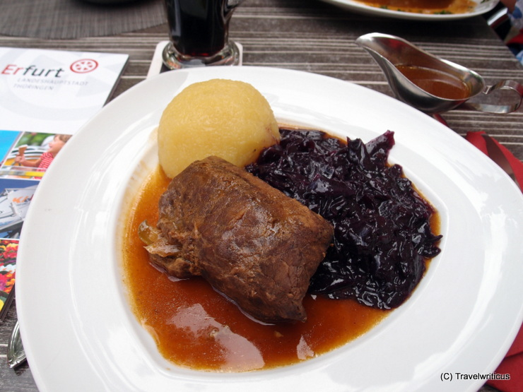 Beef-rouladen Thuringian style in Erfurt, Germany