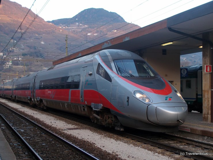 High speed train Frecciargento in Bolzano
