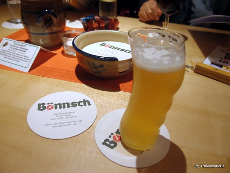 Bönnsch, a beer served in an unique glas in Bonn, Germany