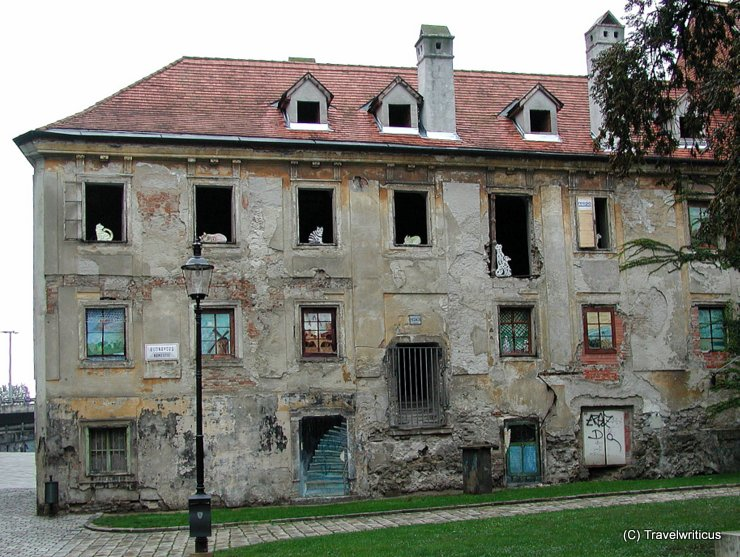 Abandoned building in Bratislava, Slovakia