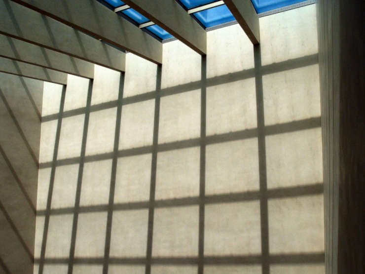 Play of light and shadow at the atrium of the museum