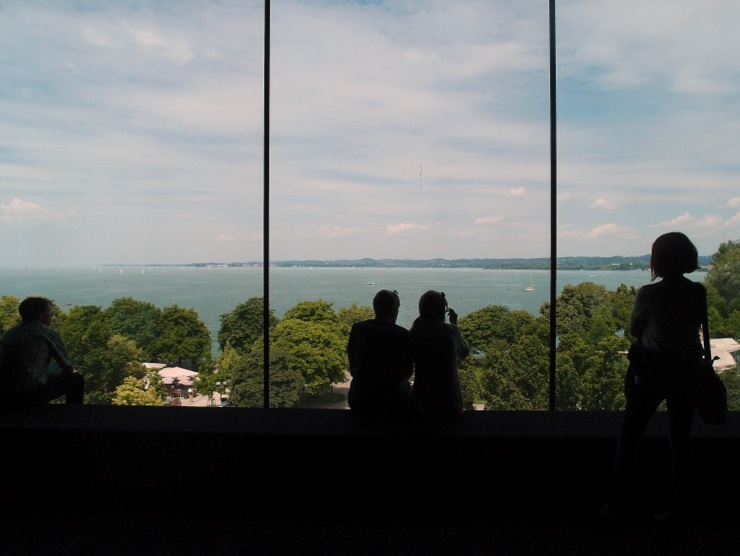 View of Lake Constance from the panorama room