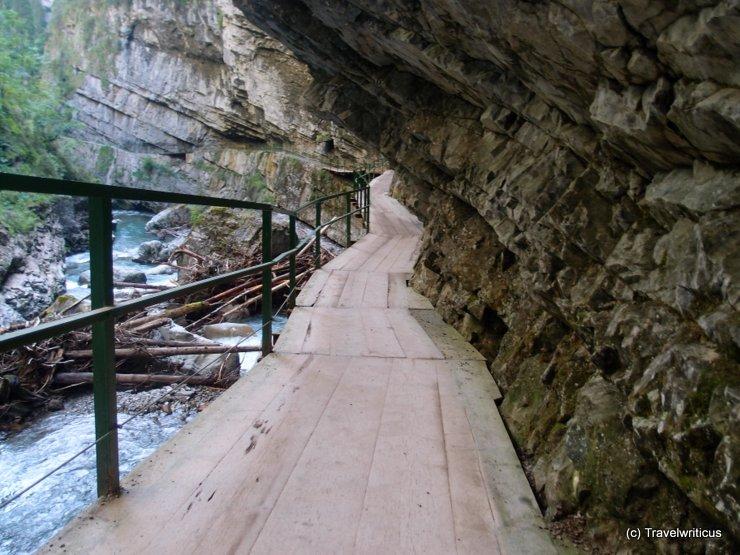 Path at Breitachklamm Gorge in Allgäu, Germany