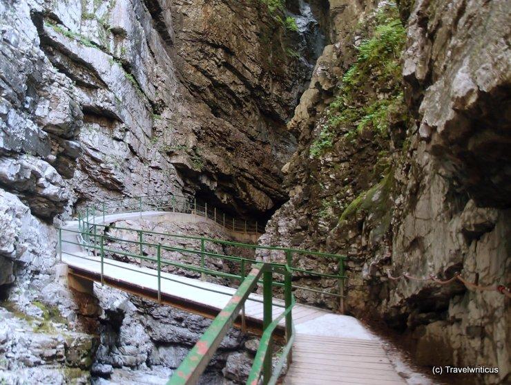 Entry of the most narrow part at Breitachklamm, Germany
