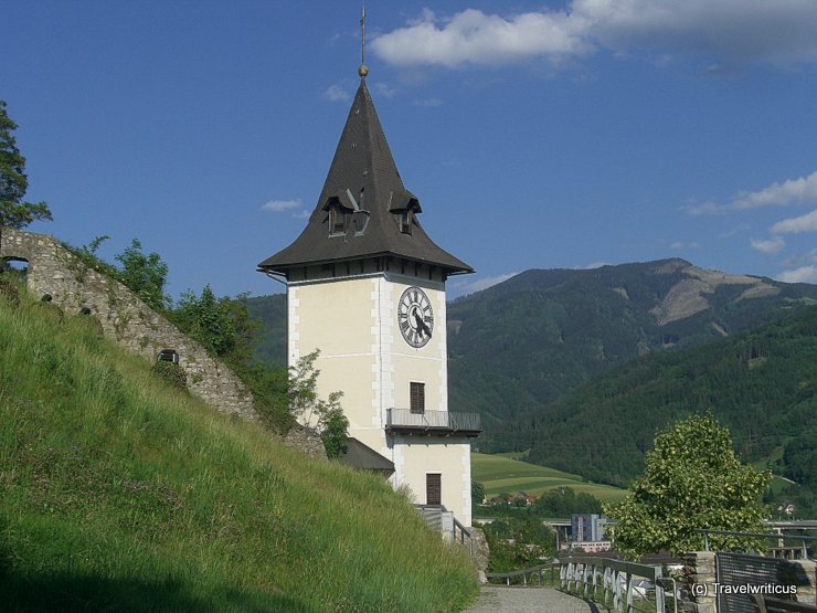 Clock tower of Bruck an der Mur, Austria