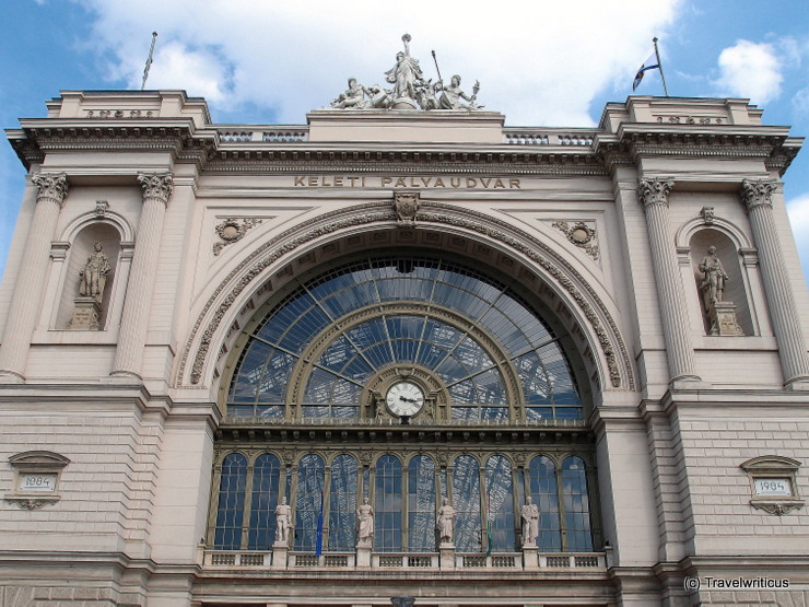 Facade of the Budapest Keleti railway station