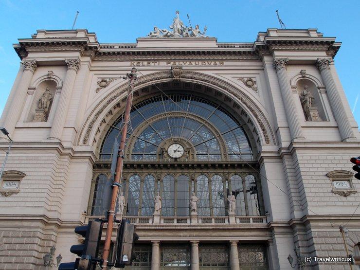 Railway station Keleti Pu in Budapest; Hungary