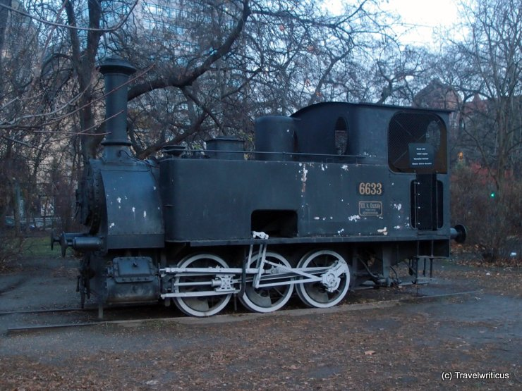 Locomotive NkNb 1-3 (1882) at the Transport Museum in Budapest, Hungary