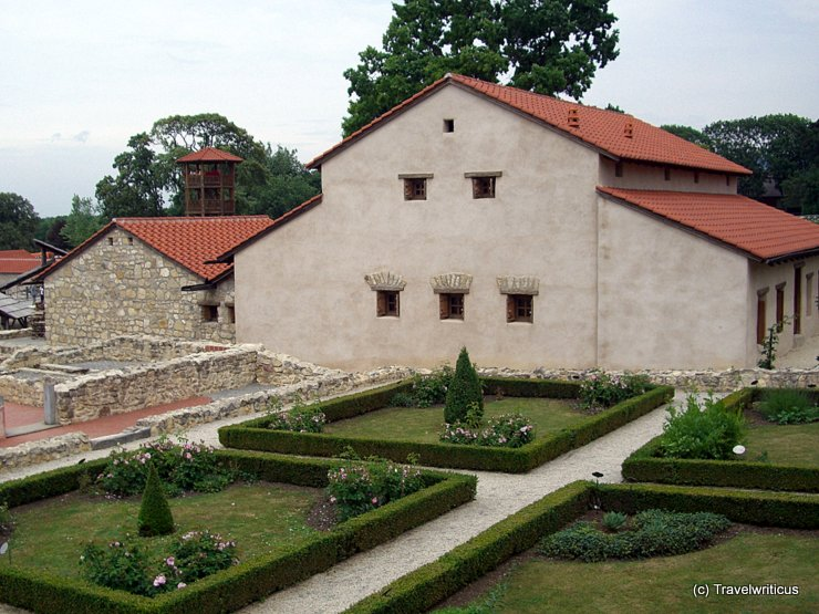 Reconstruction of the home of an ancient Roman middle-class citizen in Carnuntum, Austria