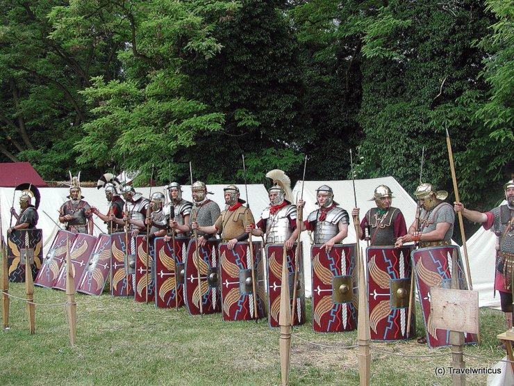Roman legionaries in Carnuntum, Austria