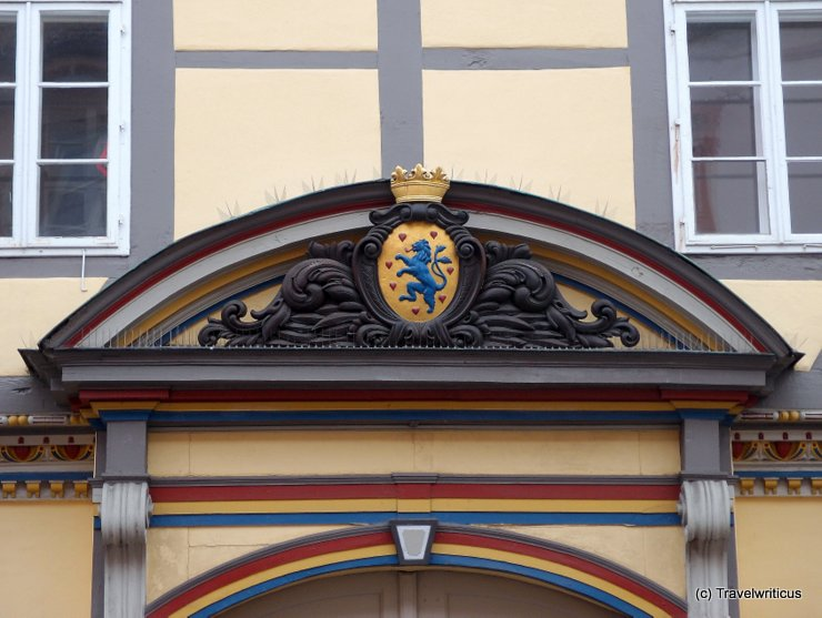 Colourful portal in Celle, Germany