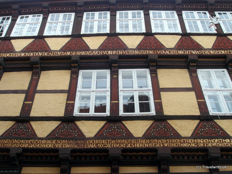 Inscriptions at the houses of Celle, Germany