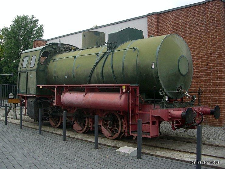 Fireless steam locomotive in Chemnitz, Germany