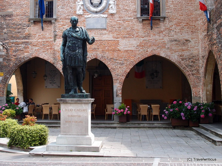 Monument to Julius Caesar in Cividale del Friuli, Italy