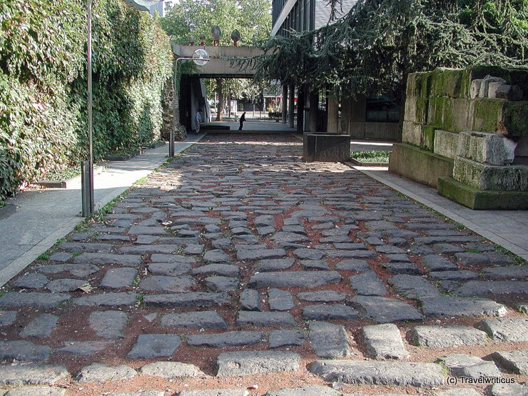 Roman street in Cologne, Germany