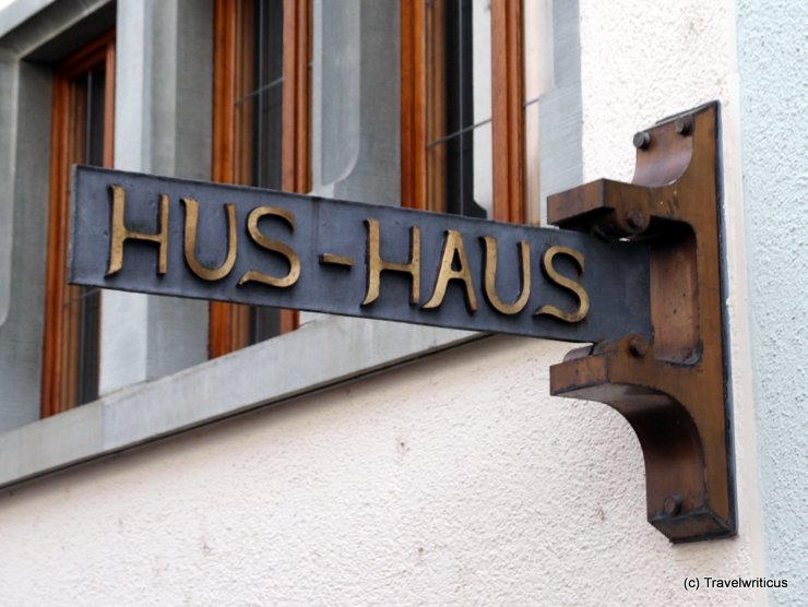 Sign at Hus Museum in Constance