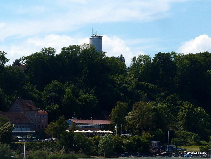 View of the Otto-Moericke-Tower from a boat