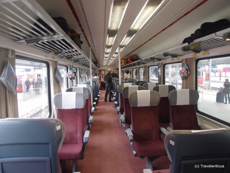 Inside the 1st class of Czech EuroCity