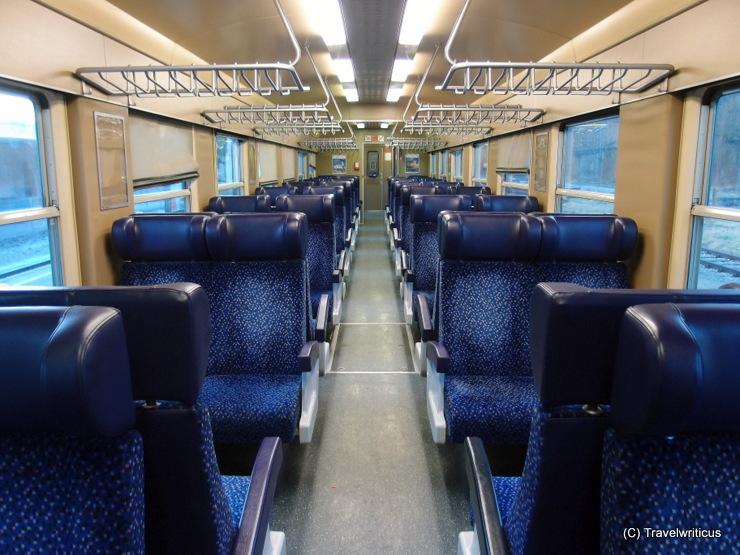 Interior of an Austrian diesel railcar ÖBB 5047