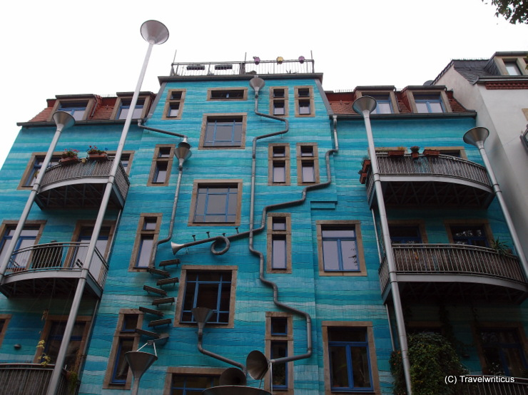 Creative downpipes at the Kunsthof-Passage in Dresden, Germany
