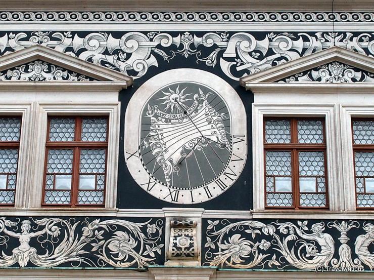 Sundial at the Stallhof in Dresden, Germany