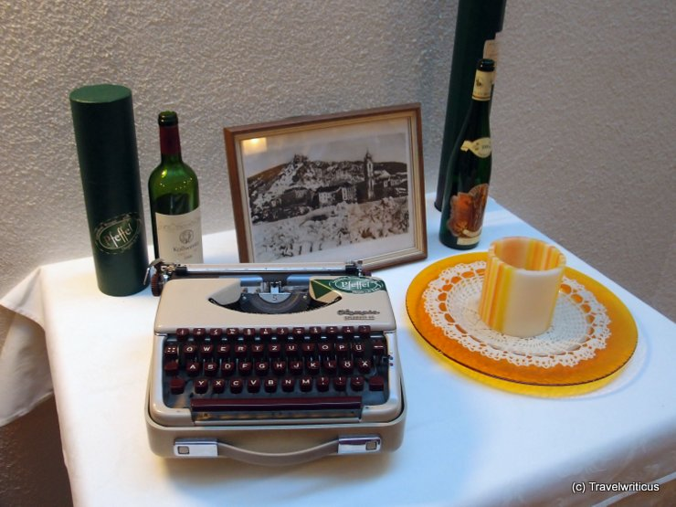 Typewriter at Hotel Pfeffel, Austria