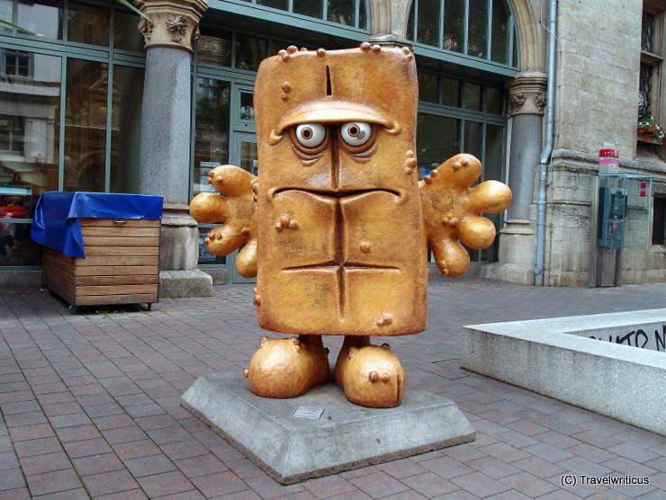 Sculpture of 'Bernd, das Brot' in Erfurt, Germany
