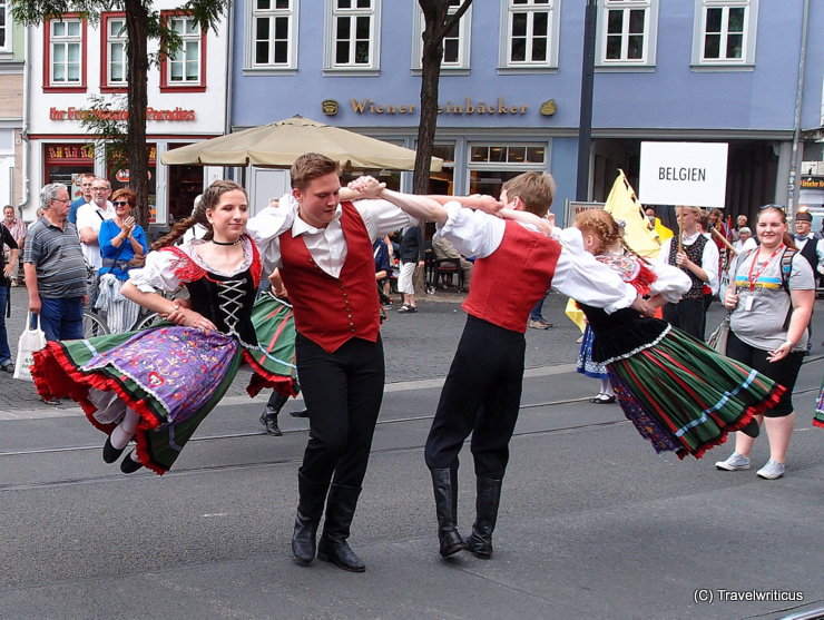 'Danetzare' folk festival in Erfurt, Germany