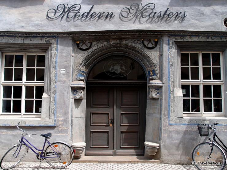 'House to the black bugle' in Erfurt, Germany