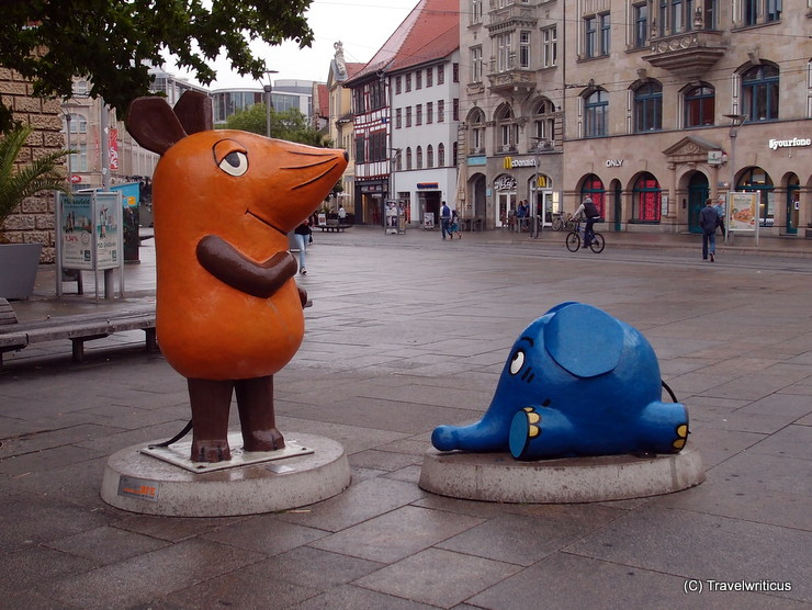 Sculptures 'The program with the mouse' in Erfurt, Germany