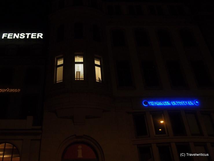 The window of Willy Brandt in Erfurt, Germany