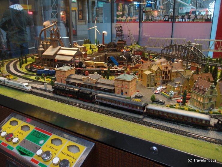Model railway layout at Frankfurt Central Station, Germany
