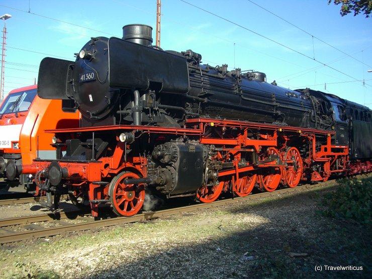 Steam locomotive 41.360 in Fürth, Germany