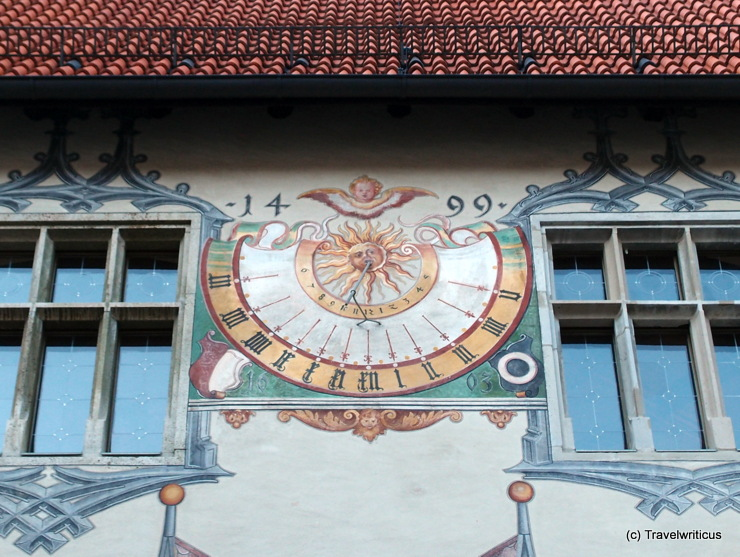 Sundial in the courtyard of the High Castle in Füssen, Germany