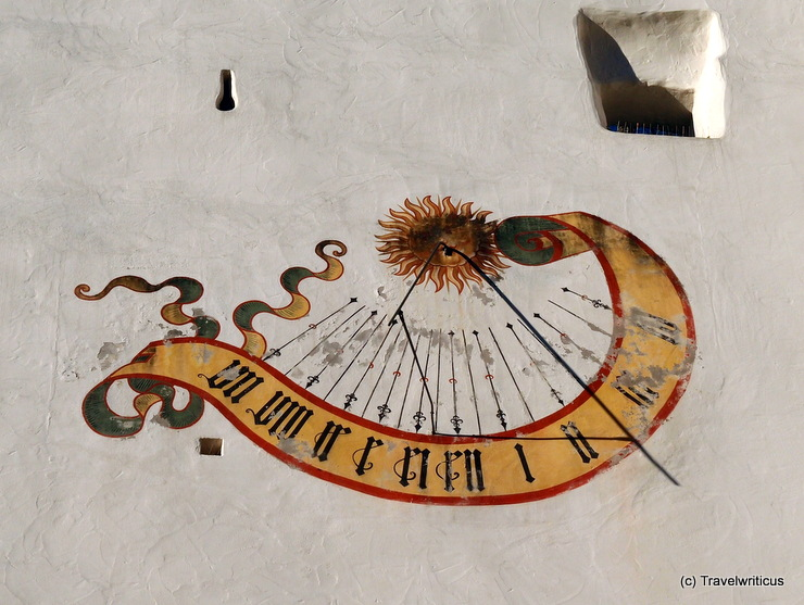 Sundial on the bailey of the High Castle in Füssen, Germany