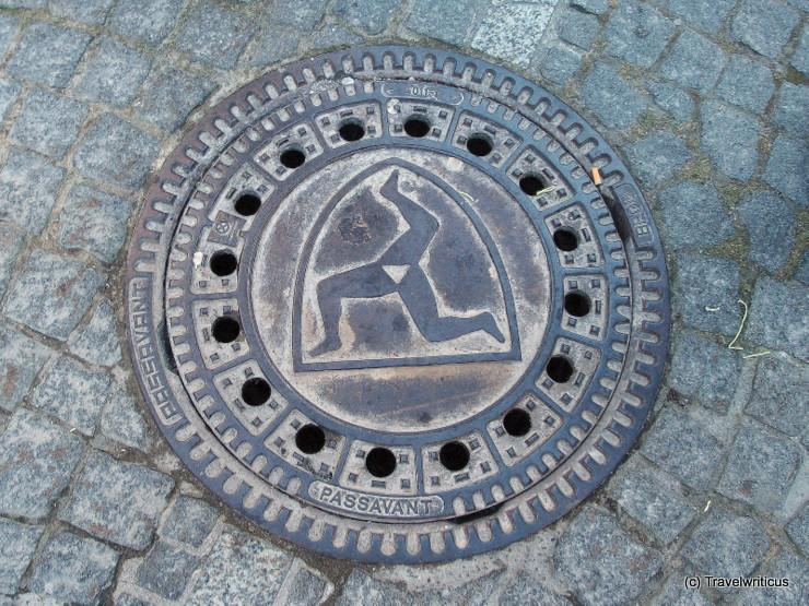 Manhole cover in Füssen, Germany