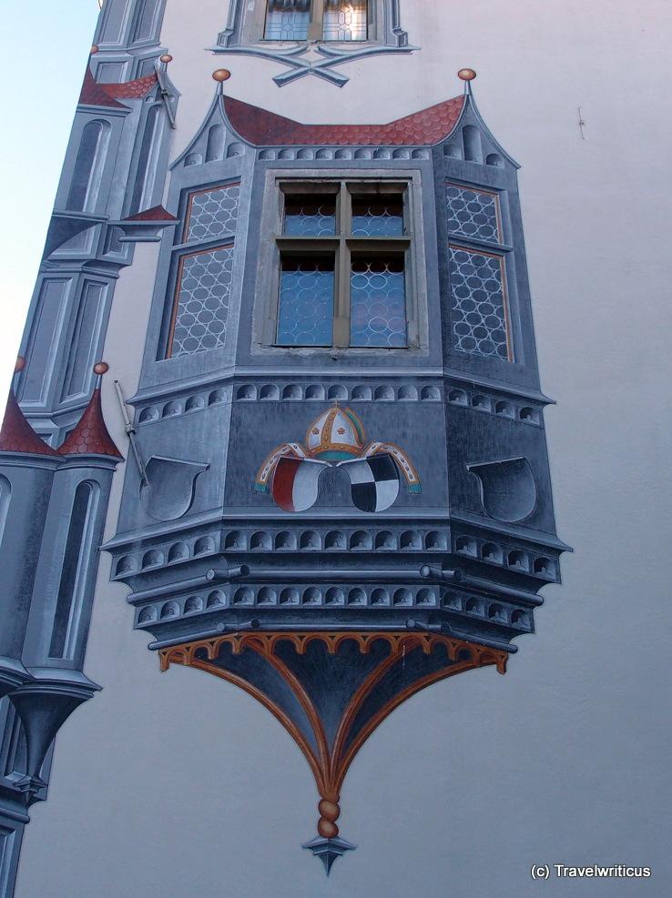 Trompe l'oeil displaying an oriel window in Füssen, Germany