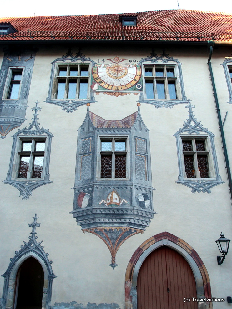 Trompe l'oeil featuring an oriel window in Füssen, Germany