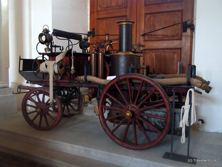 Antique fire pump of Horn, Austria