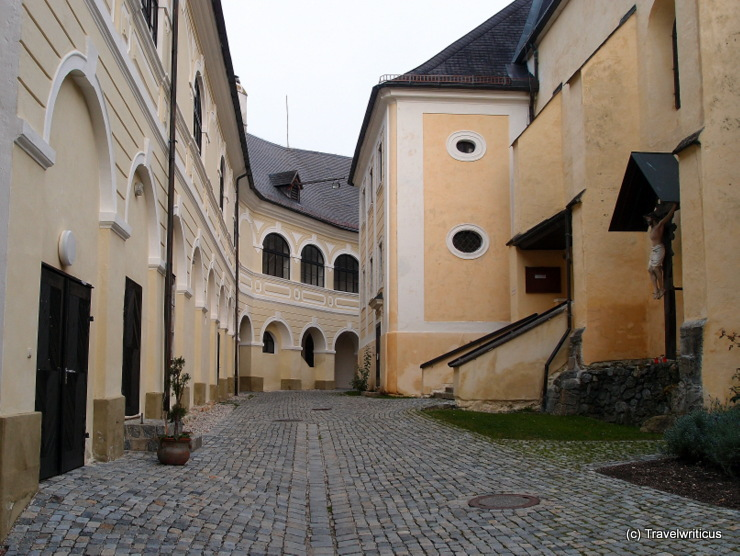 Inside the walls of Gloggnitz Castle, Austria