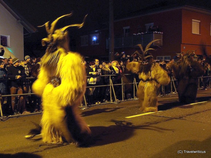Krampus procession in Gnigl, Austria