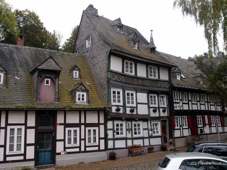 Double crooked building in Goslar, Germany