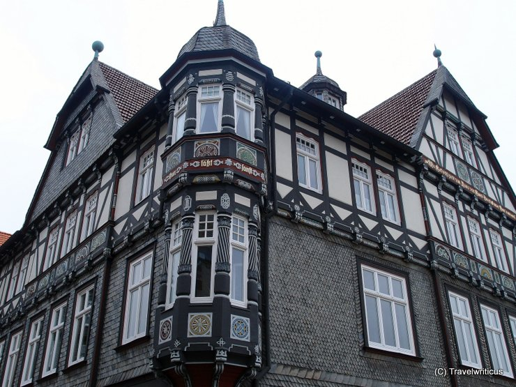 Slate-faced building in Goslar, Germany